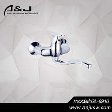 Dual Handle Mechanical Kitchen Faucet Filter Equipments For Indian Restaurants