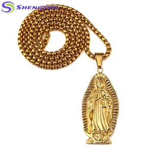 Antique Style Bling Gold Men Chain Necklace With Avalokitesvara Pendant  Necklace Factory Wholesale c4bc12072