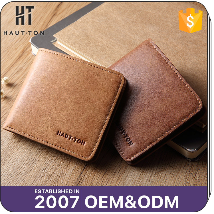 Latest Design Fashion Vintage Man Genuine Split Cow Leather Wallet Good Quality Men Casual Slim Card Wallets