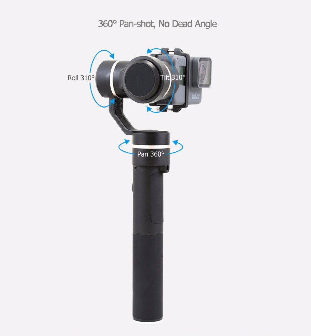 Portable 3 axis Actioncam Gimbal FeiyuTech G5 Splash Proof Handheld Gimbal