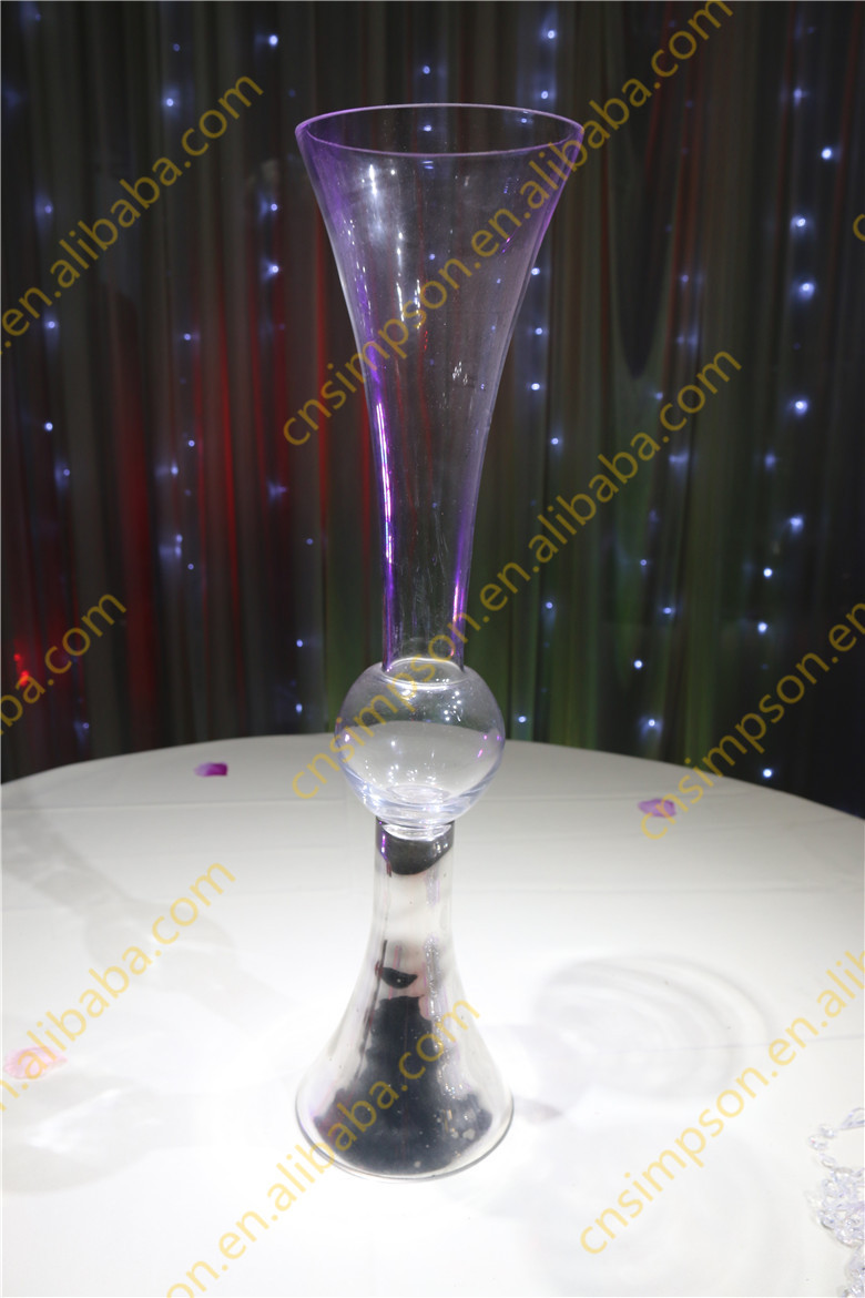Wholesale wedding glass vase centerpieces clear reversible for Buy wedding centerpieces