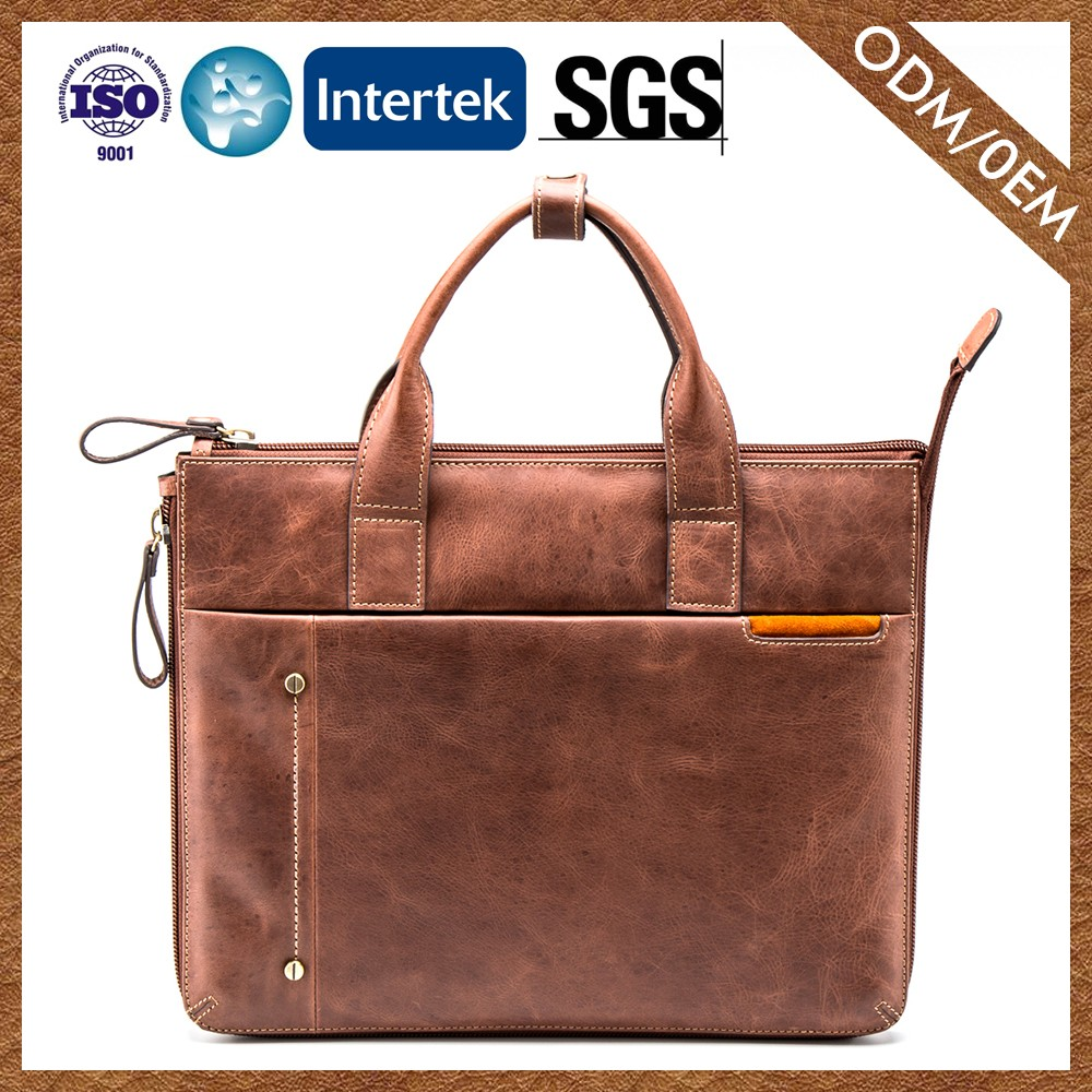 Top10 Best Selling 100% Leather Messenger Bag Latest Designs Men'S Briefcase Leather Bags