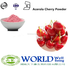 Low Price 100% Natural Organic Acerola Cherry Fruit Freeze Dried Powder Cherry Powder Free Sample Organic Cherry Fruit Powder