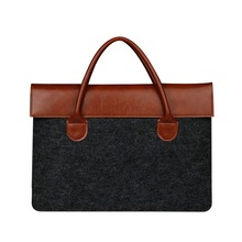 Felt Laptop Sleeve With Handle/Notebook Computer Case/Ultrabook Tablet Briefcase Carrying Bag
