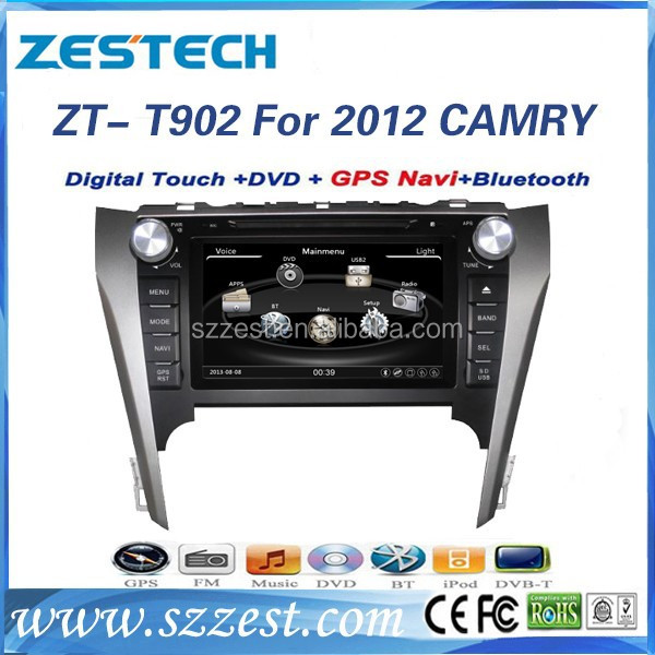 ZESTECH autodvd audio with bluetooth DVB-T car dvd for Toyota Camry 2012 Dashboard