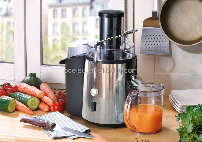 High-speed Big Chute Mouth Power centrifugal juicer stainless steel and ABS housing with 100% copper motor