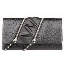 2015 wholesale hot style black cheap leather purse ladies WA6007