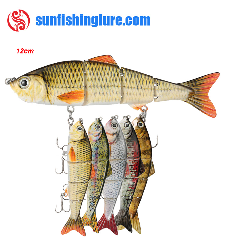 Fishing lure Wobblers Lifelike Fishing Lure 4 Segment Crankbait Hard Bait Slow Isca Artificial Swimbait Lures