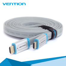 Vent ion HUMID Flat Cable with metal head Male to Male 1.4V 3D 1080P cabo HDMI for PC HDTV PS3 X box applet