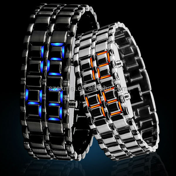 silver and black metal chain bracelet double face watches for ladies