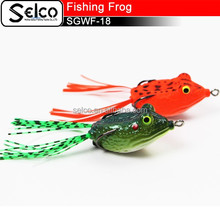 SGWF-18 artifical plastic soft hollow frog, 50mm/12g, VMC hook