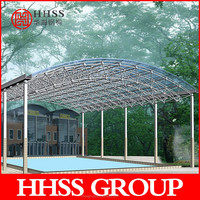 high quality and anti rust paint space frame roofing system for car parking