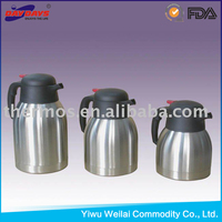 stainless steel double wall two layer thermos vacuum coffee pot hot water bottle China kitchen ware factory