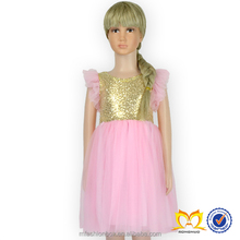 2015 fashion puffy lolita dress sequin ruffle gown ball child dress high quality wholesale kids fancy dresses
