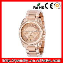 Best selling high quality steel band vogue rose gold best women watch brand