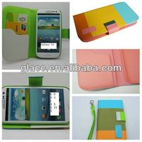 2013 CES New hot Wallet case Stand Pouch for Samsung galaxy s4/S IV/I9500,fit real phone
