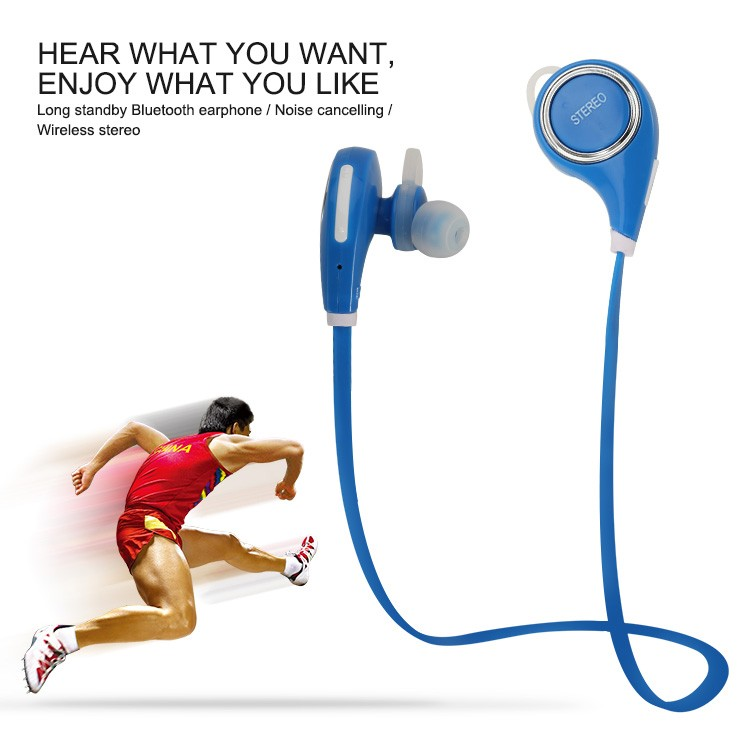 Ear hanging type earphones, wireless earplug headphones bluetooth headsets for apple