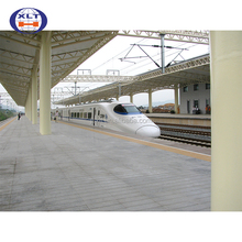 Made in china metal steel structure house train station steel pipe truss