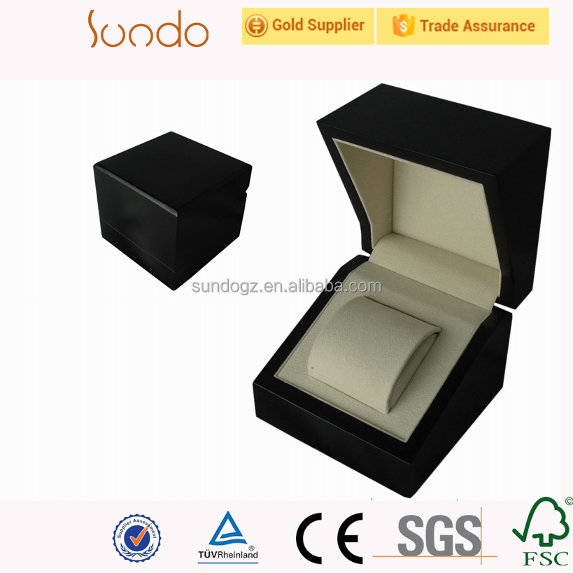 small single luxury wood watch box for ladies girls