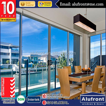 2016 year design double glass europe standard aluminum architectural sliding door