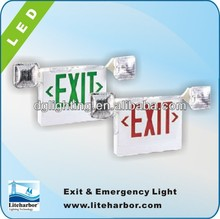 Double head LED Exit edge lit exit signs with UL certification from China