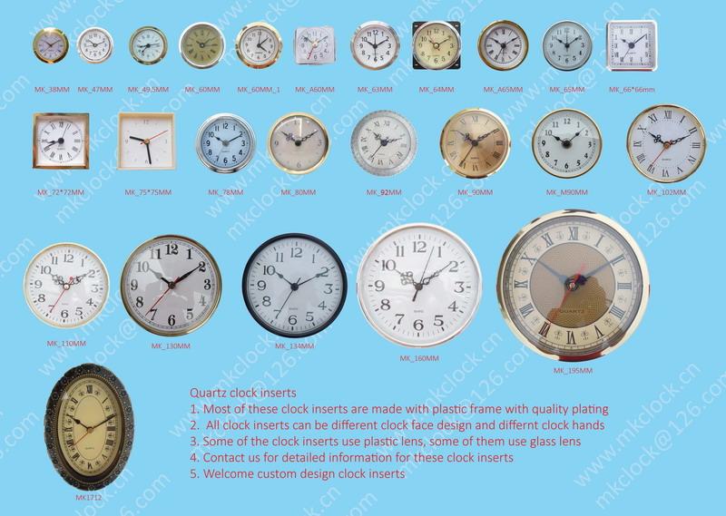 90mm Quartz Clock Fit Up Clock Insert Clock With