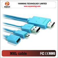 mhl hdmi cable for samsung galaxy s2 s3 i9300 s4 note 2 note 3