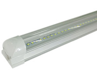 LED integrated T8 tube 8ft 36W with 2400mm surface mounted clear milky cover