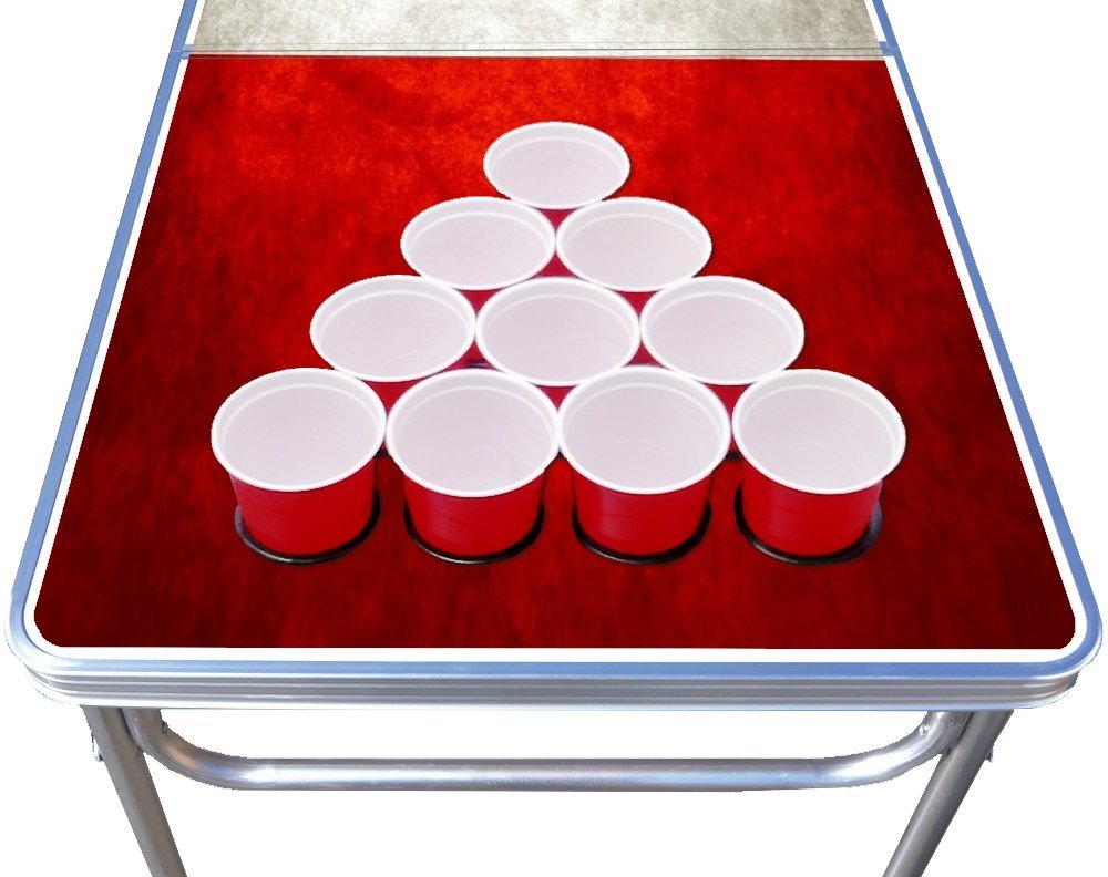 New Onlimited Design Options 8ft Beer Pong Party Table with Holes