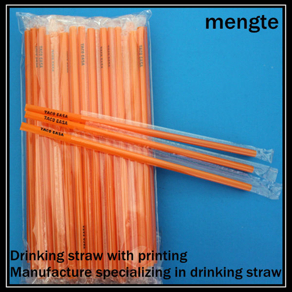 Yiwu Printed Long Straight Customised PP Drinking Straw