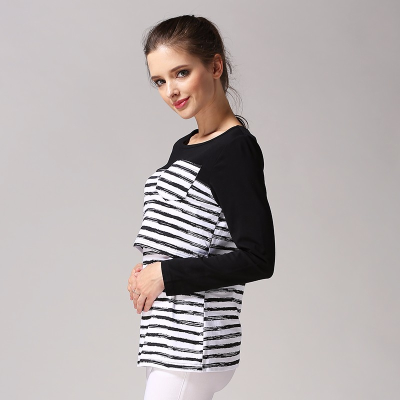 maternity nursing top breastfeeding clothes casual feeding autumn and winter for pregnant women wear