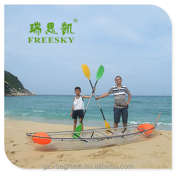2 person double pedal plastic ocean sea clea rfishing kayak boats for sale