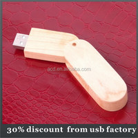 promotional bulk 64GB nature wooden usb flash drive