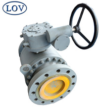 API6D Cast Steel WCB High Pressure Gear Operated Trunnion Mounted Ball valve
