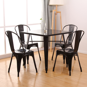 Best sale garden balcony used wrought iron table and chair set for coffee shop