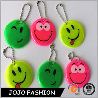 Best selling custom reflective pvc keychain keyring/