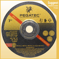 PEGATEC 180X6.0X22.2MM resin bonded grind disc brake for stainless steel polishing