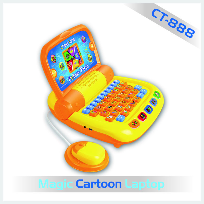 The hot selling mini cartoon educational computer function mouse laptop