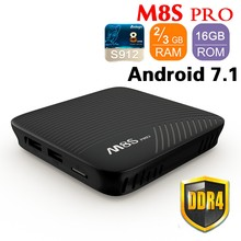 MECOOL M8S PRO Android 7.1 Smart TV Box 3GB DDR4 16GB Amlogic S912 64 bit Octa Core UHD 4K BT 4.1 2.4G/5G WiFi Set top Box