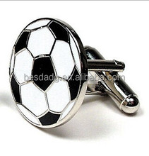 Football Shapes Metal Alloy Cufflinks, Can be Customized Color and Logo
