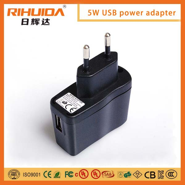 5V / 1A USB AC/DC Power Adaptor with EN 60335-2-23 approval