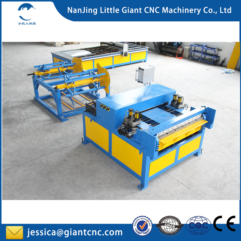 LGCM brand Duct pipe making machine / duct manufacture auto line 2 / rectangular duct line 3