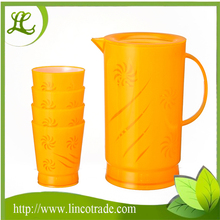 Promotion BPA Free 2.1L Plastic Water Jug With 4 Cups