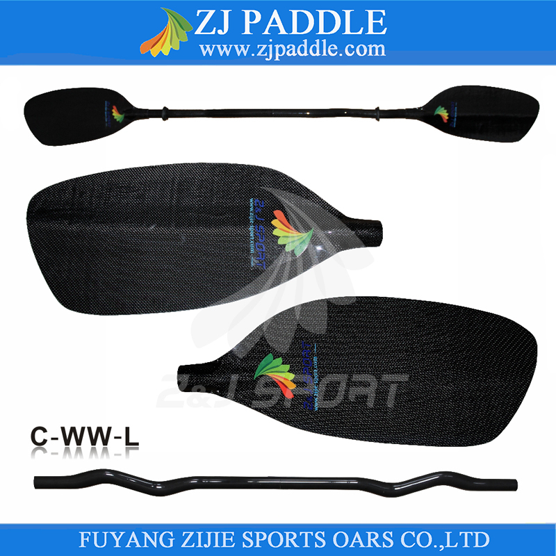 Full Carbon Fiber Blade Whitewater Paddle For Racing Boats