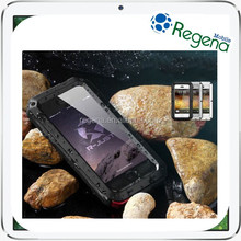 Aluminum Gorilla Glass Metal Cover Case for iPhone 6 Plus Waterproof Shockproof