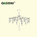 High Quality Welded Metal Hanger,Clothing Hanger---S/S--18clips--Foldable 13.5'X9.5'x16'