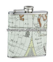 promotional 6oz,7oz,8oz stainless steel hip flask/whisky flask/liquor hip flask with leather cover