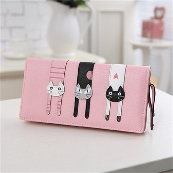 Leather Clutch Bag Leather Travel Cat wallet Made in China