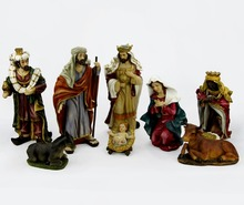 My First Traditions Nativity Set Figures,Resin Nativity Figurine Set,Christmas Three Kings Nativity Set Scene Figures Baby Jesus