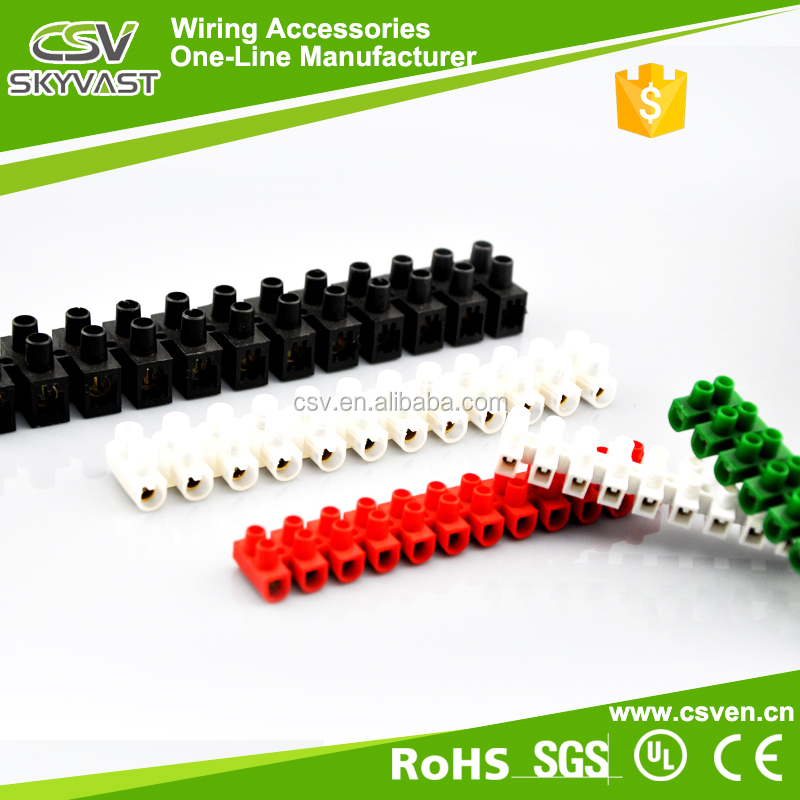 Free sample PE material U H type white black stacking screw terminal block with CE certification